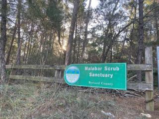 Malabar Scrub Sanctuary Entrance Sign